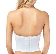 Women's Strapless Padded Push Up Shapewear Slimming Corset White #2052 image 2