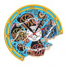 Automaton Bite 1682 Boho Wall Clock Handcrafted Art Moving Gears Home Decor - $138.00
