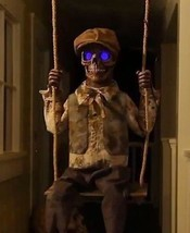 Animated Swinging Skeleton GHOST SPIRIT Boy Outdoor HALLOWEEN Prop VIDEO> - $139.99
