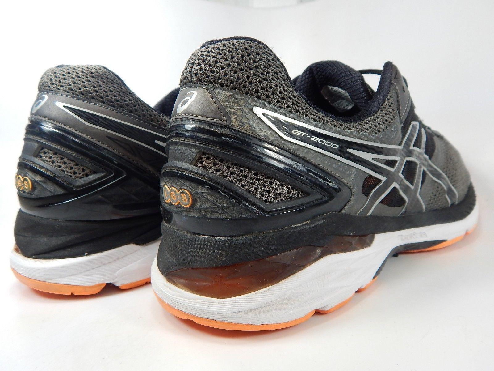 Asics GT 2000 v 4 Size US 13 M (D) EU 48 Men's Running Shoes Gray Orange T606N