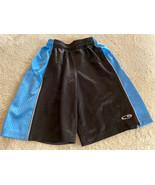 Champion Boys Black Blue Mesh Athletic Basketball Shorts Small 6-7 - $7.38