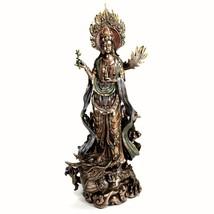 "KWAN YIN ON DRAGON STATUE 14"" Buddha Goddess HIGH QUALITY Quan Guan Comp... - $109.98"