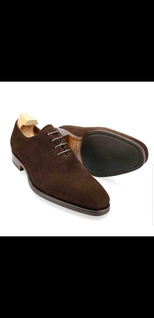 Handmade Men Suede Dress/Formal Oxford Shoes