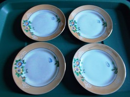 ~~ 1920's Noritake Co. Set Of 4 Japan Bread Plates ~~ Mother Of Pearl/Fl... - $10.00