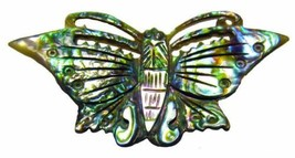 Brooch Butterfly Paua Abalone Shell Vintage 1970's - $18.82