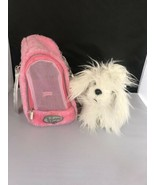 Pucci Pups Dog Carrier with White Maltese Doggy Puppy Bag Carry Strap Pi... - $9.90