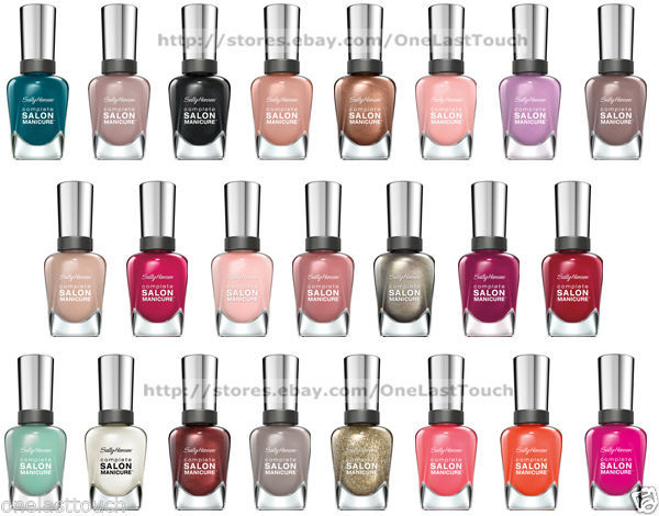SALLY HANSEN Nail Polish Complete SALON MANICURE New+Rare *YOU CHOOSE*Colors T-Z