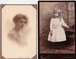 Anabel Smith (2) Cabinet Photos as a Young Girl & Woman Hackettstown, NJ  - $34.50