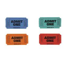 Red/Blue/Orange/Green Admit 1 Tickets/Case of 4 - $35.65