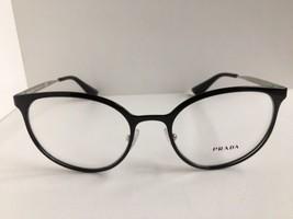 New PRADA VPR 53T Black 52mm Round Women Eyeglasses Frame No case #8 - $189.99