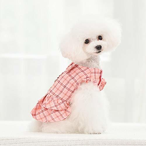 Primary image for NACOCO Dog Grid Dress with Leash Small Pet Puppy Cute Lace Skirt Sweet Pet Summe