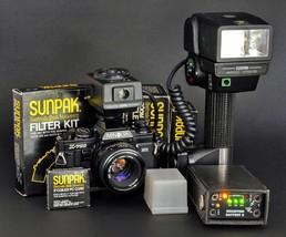 Sunpak Flash Auto 522 Strobe Kit w Minolta Dedicated MX-5 TTL Receiver +... - $199.00
