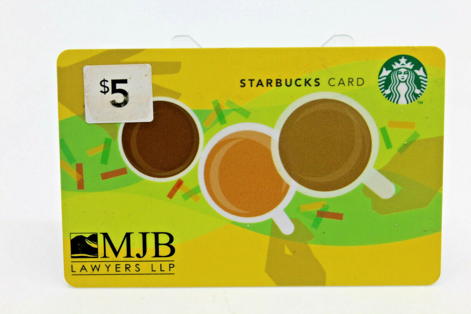 Primary image for Starbucks Coffee 2011 Gift Card Cooprate MJB Lawyers LLP BC Canada Zero Balance