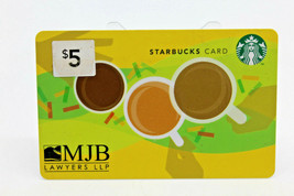 Starbucks Coffee 2011 Gift Card Cooprate MJB Lawyers LLP BC Canada Zero ... - $11.27
