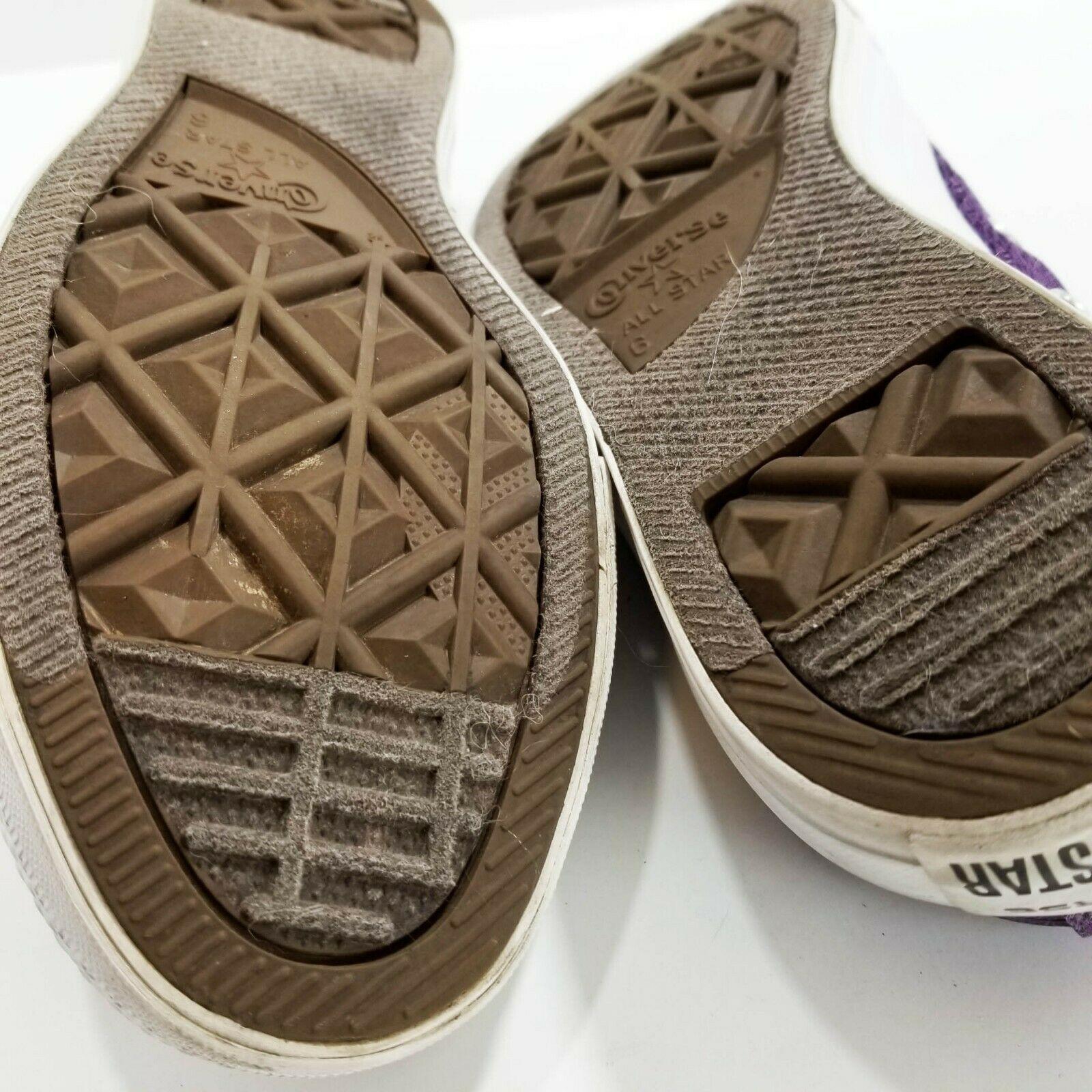 Womens CONVERSE Shoreline Lace Purple Shoes Size 8