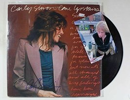 "Carly Simon Signed Autographed ""Upstairs"" Record Album w/ Signing Photo - $59.39"
