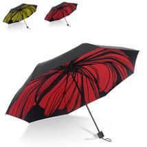 Umbrella Foldable Women Mini Travel Rain Windproof UV Protection Black Coating - $15.89