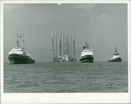 Off shore drilling rig. - Vintage photo - $16.61