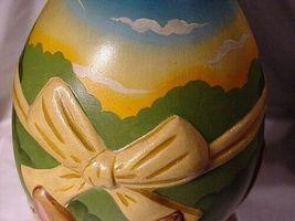 Vaillancourt Folk Art 4 Bunnies Easter Egg Center Piece For Table image 6