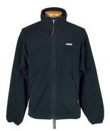 Vtg 90s Patagonia Black Fleece Jacket Zip Hike Camp Trail Medium Weight ... - $64.34