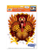 Funny CRAZY WILD TURKEY CAR CLING Backseat Window Decal Thanksgiving Dec... - $3.93