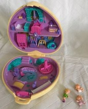 Vintage Polly Pocket 1994 Nursery Playground Yellow Heart Quilted Compac... - $39.59