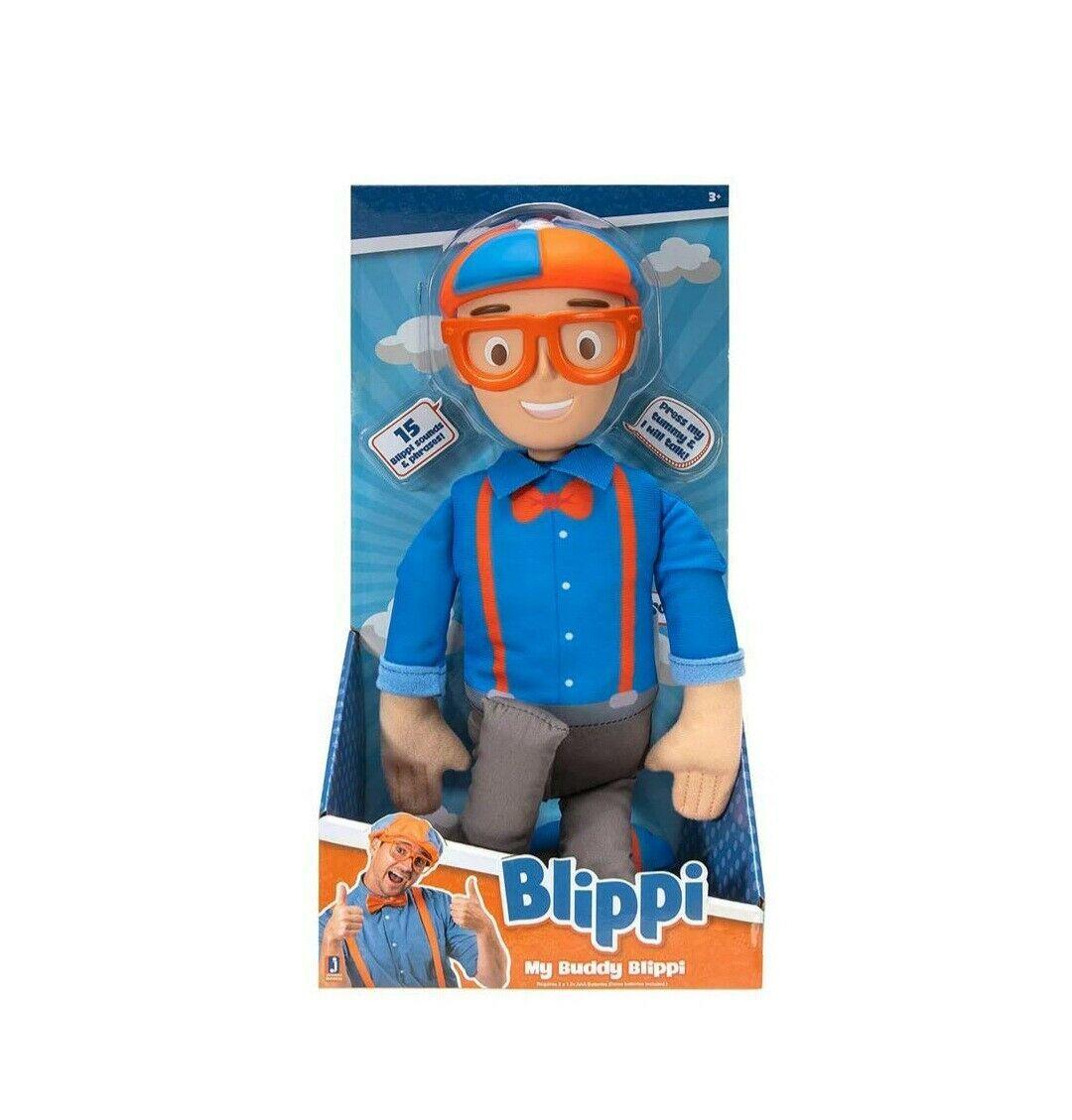"NEW SEALED 2020 Jazwares 16"" Talking My Buddy Blippi Doll - $39.59"