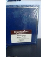 Reflections Navy Photo Album Sealed Holds 200 4x6 photos magnetic pages  - $18.70