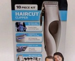 Remington Haircut Clipper 18 Piece Kit Easy to Use Corded Self Sharpening