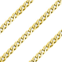 """24"""" Mens Stylish 14K YG Covered Stainless Steel 8mm Curb Cuban Link Chain - $14.98"""