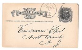 Sc UX5 Newark NJ 1881 Fancy Cork Cancel Postal Stationery Card Sacks Oat Hulls - $4.99