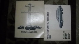 1992 ford escort & mercury tracer service repair workshop manual set with - $59.34