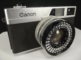 CANON CANONET 45MM Copal-sv 1:1.9 LENS 35MM camera & LEATHER CASE vintage - $21.64