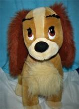 "VINTAGE DISNEYLAND WALT DISNEY WORLD LADY AND THE TRAMP DOG LADY PLUSH 14"" - $25.39"
