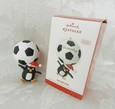 Hallmark Christmas Ornament - Soccer Star - 2013 Penguin Personalize - £11.13 GBP