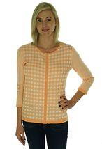 4635-2 Jones New York Collection Full Zip Cardigan Sweater Sherbert White, M $89 image 3