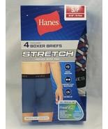 4-Pack Hanes Men's Stretch Boxer Briefs Comfort Flex small reg length (bn) - $16.83