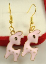 Pink Llama Earrings *** 12315 >> Combined Shipping - $3.25