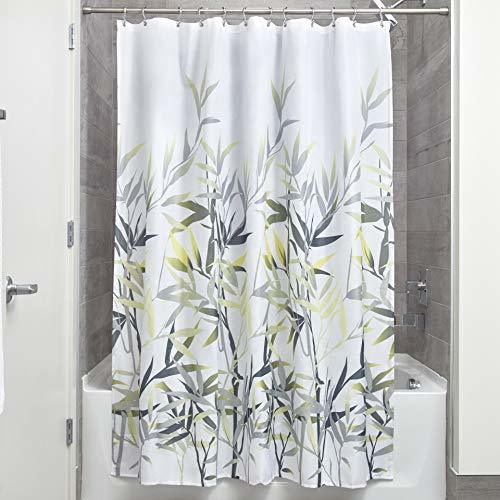 InterDesign Anzu Fabric Shower Curtain for Master, Guest, Kids', College Dorm Ba