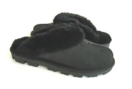 UGG COQUETTE BLACK SHEARLING MOCASSIN SLIPPERS US 7 / EU 38 / UK 5 - $101.92