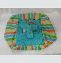 Taggies Baby Shopping Cart Cover Tag And Go Green Blue Orange Stripes Do... - $14.95