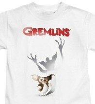 Gremlins T-shirt retro 1980s movie poster graphic printed cotton white tee image 1