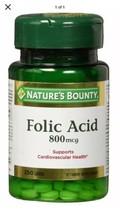 Nature's Bounty Folic Acid 800 mcg Tablets Maximum Strength 250 Ct - $12.99