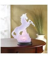 Unicorn Statue Night Light Figurine Lamp Girl Children Nightstand Led Ni... - $30.45