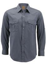 Men's Casual Western Pearl Snap Button Down Long Sleeve Cowboy Dress Shirt image 12