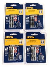 Irwin 3 Piece Impact Double Ended Screwdriver Power Bits Magnetic Screw Hold 4PK - $12.59