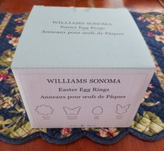 NEW Williams Sonoma Set of 4 EGG RINGS Flower, Egg, Bunny, Butterfly Fre... - $17.30 CAD