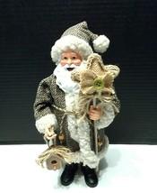 "Figurine Santa Claus 12"" Christmas Xmas Woodland Holiday Decor Rustic Ta... - $21.86"