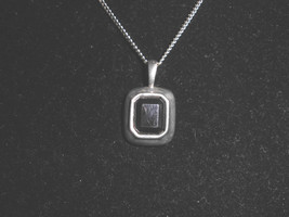 VTG Silver Tone Black Faux Rhinestone Necklace Choker - $5.94