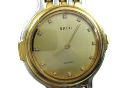 Auth RADO 12 Point Dia Gold Dial Stainless Steel Women's Quartz Watch 121.9596.2 - $189.00